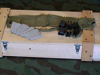 M1 Garand Bandolier. Complete Repack Kit. Enbloc Clips,Cardboards. Danish Issue