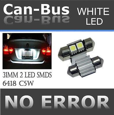TMZ  x2 Canbus 31mm DE3022 LED super bright Light Bulbs 2-SMD Lamp White B T5454