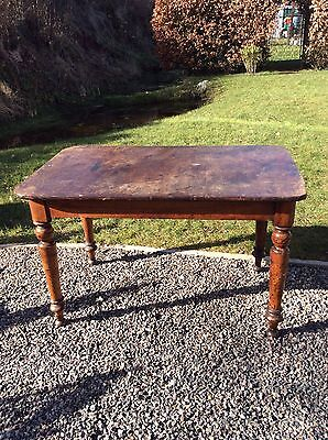 Antique Victorian Rectangular Mahogany Dining / Kitchen Table