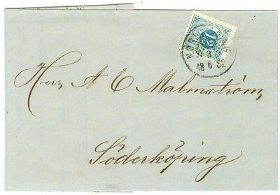 SWEDEN: Cover with Norrköping beehive cancellation 1882.