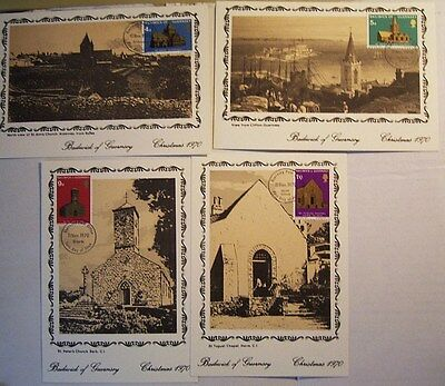 GUERNSEY CHRISTMAS 1970 FIRST DAY OF ISSUE CARDS