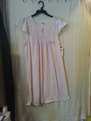 NEW Women's Light Pink Miss Elaine's Nightgown, Size Large