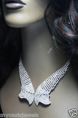 Rhinestone Choker Necklace Earring Showstopper Austrian Crystal Cocktail Prom