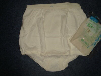 Carters pantie~7~L~ brief~men/women~cotton~vintage white spanky pants~two