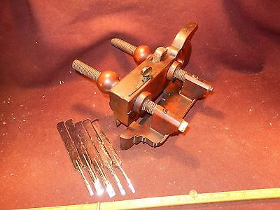 Ohio plow plane, cutters, nice, collectible tool