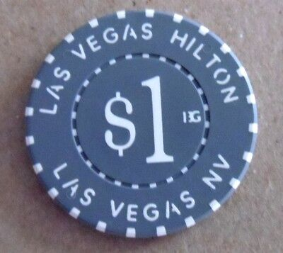 closed obsolete Las Vegas Hilton $1 CASINO Poker CHIP  Now WESTGATE