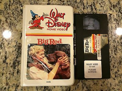 WALT DISNEY BIG RED RARE MOLDED CLAMSHELL VHS 1962 ORPHAN BOY + HIS DOG HTF OOP!