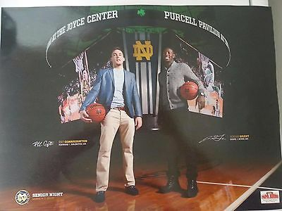 2014-15 JERIAN GRANT PAT CONNAUGHTON NOTRE DAME BASKETBALL POSTER! ACC CHAMPS!