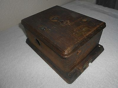 Western Electric CALL BOX Telephone Phone Parts Old Antique Railroad American