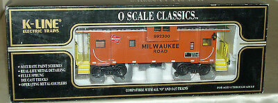 K-LINE K613-1371 MILWAUKEE ROAD MR EXTENDED VISION CABOOSE w/ SMOKE   MINT/OB