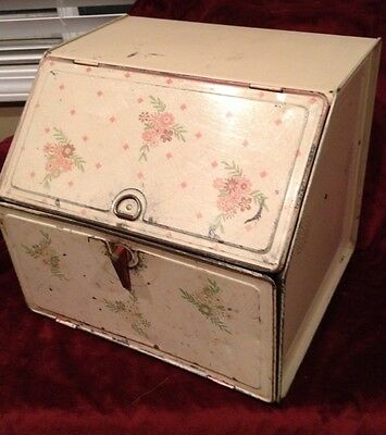 Vintage National Can Co Tin Litho Bread Box Pie Safe