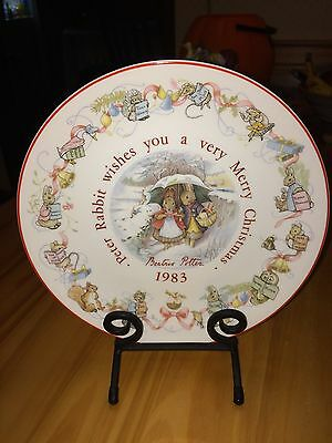 WEDGWOOD PETER RABBIT MERRY CHRISTMAS PLATE 1983