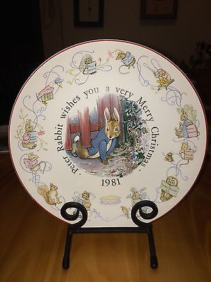 WEDGWOOD PETER RABBIT MERRY CHRISTMAS PLATE 1981