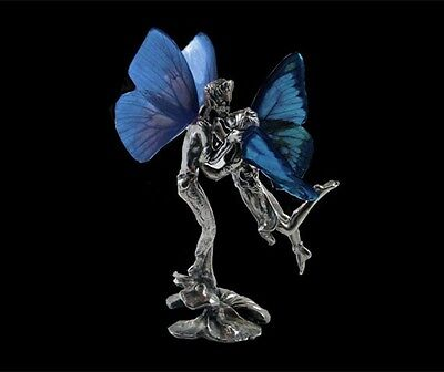Pewter Fairy figurine Butterfly wings  Faerie Fantasy  The Kiss Statue FAV-019-1
