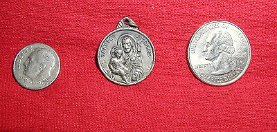 Rare Vintage Sanctus Josephus - Catholic Religious Holy Medal - The Pious Union