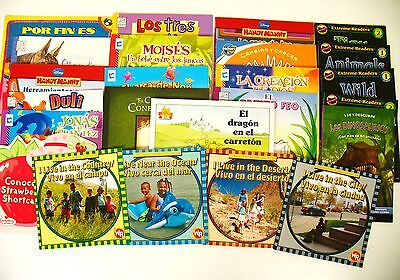 Lot In Spanish 24 kids story picture books/early readers Peter Rabbit/Dinosaurs
