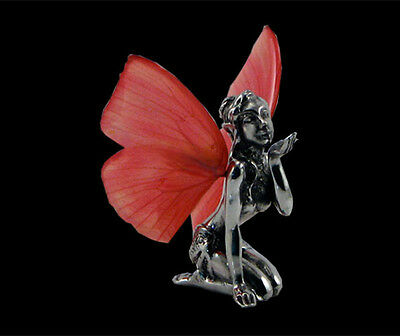 Fairy figurine Pewter Faerie Butterfly Wings Fantasy  Forget Me Not  FAV-050-1