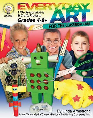 Classroom Art Projects Grade 4th 5th 6th 7th 8th 140p Teacher Resource book