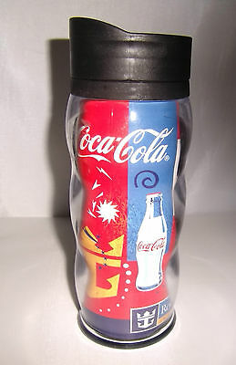 COCA COLA Royal Caribbean Insulated Thermal Plastic Travel Hot Cold Coffee Mug