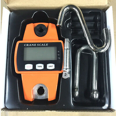 Mini Portable Crane Scale 300kg 0.1kg LCD Digital Electronic Hook Hanging Scale