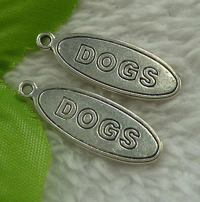 Free Ship 180 pieces tibet silver DOGS pendant 30x10mm #2288