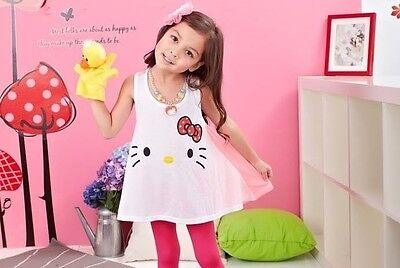 Boutique Girl 2T/2 Large Hello Kitty Loose Tunic Swing Top Long Shirt CUTE RARE