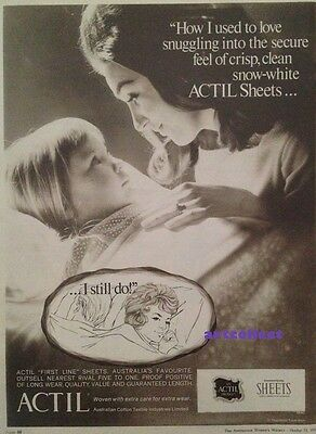 Original Vintage Australian Ad: Actil Sheets (1969)