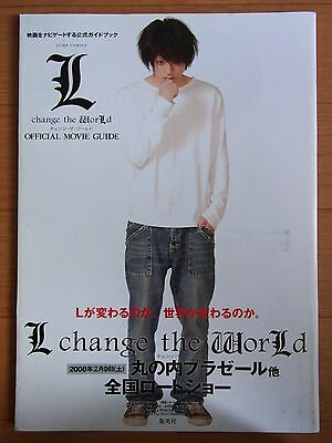JAPAN Death Note L change the WorLd Movie Guide w/Poster oop