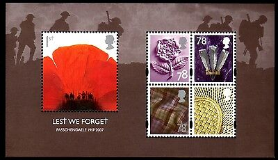 GB - Lest we Forget Miniature Sheet - 2007 - MS2796 - Mint no Hinge