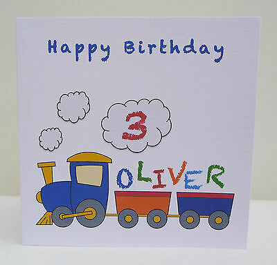 Personalised Train Birthday Card 1st 2nd 3rd 4th 5th 6th - Brother Son Grandson