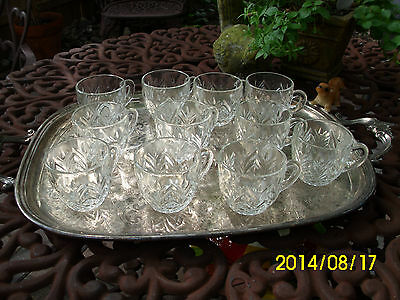 Vintage Assorted/Mixed~Pressed Clear Glass Punch Cups Lot~X20