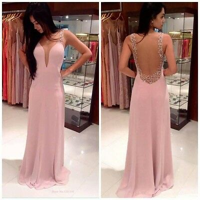 New Long Evening Party Ball Prom Gown Formal Bridesmaid Cocktail Full Dress