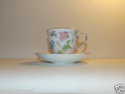 Vintage Plant Tuscan China Tea Cup and Saucer (Floral)