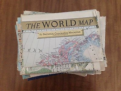 NATIONAL GEOGRAPHIC MAP LOT 54 MAPS 1940'S-1950'S