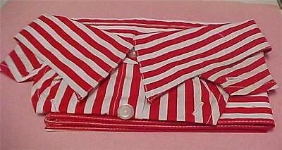 Necktie Dickie with Matching Sleeve/Cuffs-Red & White Strips  -14259C