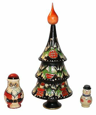 "3 PC RUSSIAN NESTING DOLLS 6,8"" #23"