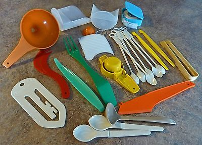 Lot of Vintage Tupperware Party Favors Gadgets 24 pieces Multi-Color Collectible