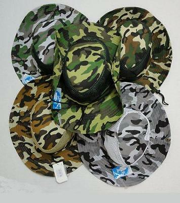 120pc Lot Mesh Camo Boonie Fishing Hats Army Military Camouflage Hunting Hat