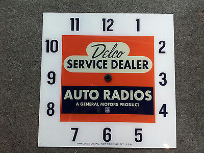 """*NEW* 15"""" DELCO TUBE RADIO CHEVY GM GMC GLASS replacement clock FACE FOR PAM"""