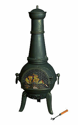 Cast Iron Chimenea Chimnea Patio Heater 124cm - Antique Gold