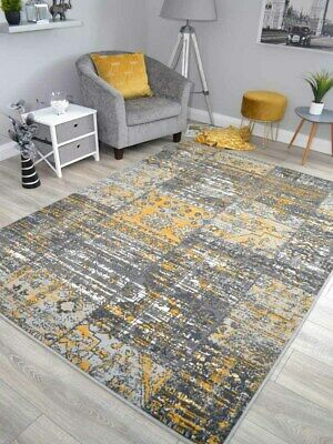 New Silver Grey Black Modern Soft Thick Carved Rugs Small Extra Large Mats Cheap