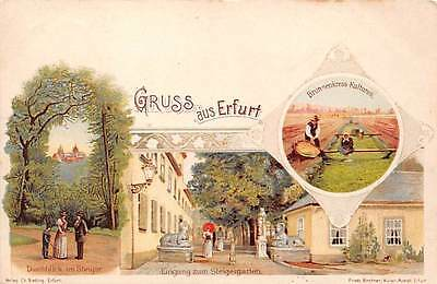 ERFURT, THURINGIA, GERMANY ~ GRUSS AUS MULTIVIEW  ~ used 1901