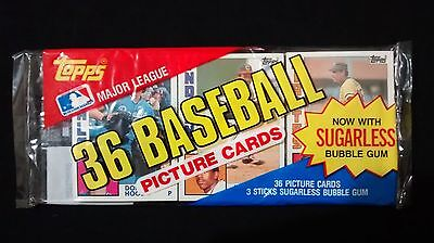 1984 Topps Baseball Grocery Rack Pack With Julio Franco Showing On Top