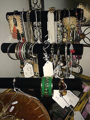 Vintage Estate Grab Bag Abstract Necklace Earring Mixed Wear Costume Jewelry Lot