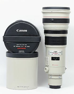 Canon EF 500mm f/4L IS USM lens with Trunk Case Mint