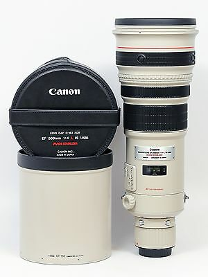 Canon EF 500mm f/4L IS USM lens with Case Mint -