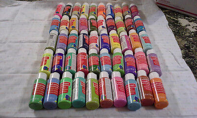 25 Acrylic Paints - 2 oz Bottles All Different  Colors FAST SHIPPING