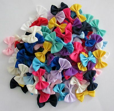 BB RIBBON BOWS 35mm choice of colours pack of 20 grosgrain school hair bow craft