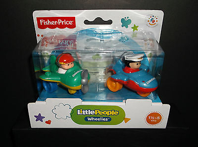 Fisher Price Little People Wheelies Airplanes (2 pack) NEW!