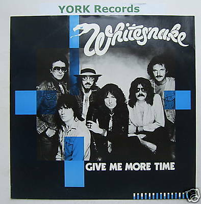"WHITESNAKE - Give Me More Time - Ex Con 12"" Single"